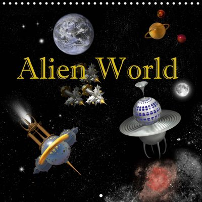 Alien World (Wall Calendar 2019 300 × 300 mm Square), Anne Hoffmann
