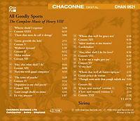 All Goodly Sports (Complete Music Of Henry VIII.) - Produktdetailbild 1