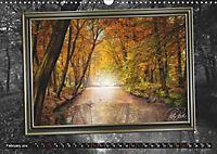 All in a framework - sun in the forest / UK-Version (Wall Calendar 2019 DIN A3 Landscape) - Produktdetailbild 2