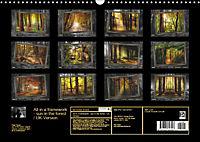 All in a framework - sun in the forest / UK-Version (Wall Calendar 2019 DIN A3 Landscape) - Produktdetailbild 13