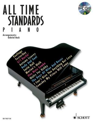 All Time Standards, Piano, m. Audio-CD, Gabriel Bock