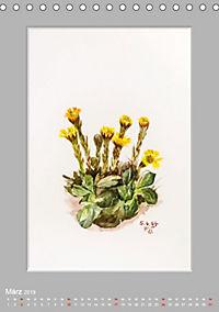 Alpenblumen Aquarelle aus Tirol (Tischkalender 2019 DIN A5 hoch) - Produktdetailbild 3