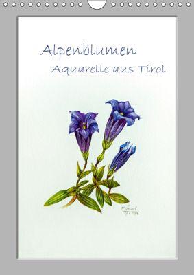 Alpenblumen Aquarelle aus Tirol (Wandkalender 2019 DIN A4 hoch), Peter Überall