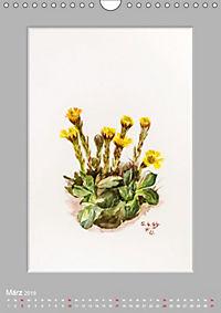 Alpenblumen Aquarelle aus Tirol (Wandkalender 2019 DIN A4 hoch) - Produktdetailbild 3