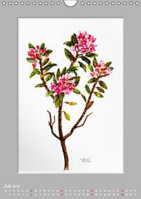 Alpenblumen Aquarelle aus Tirol (Wandkalender 2019 DIN A4 hoch) - Produktdetailbild 7