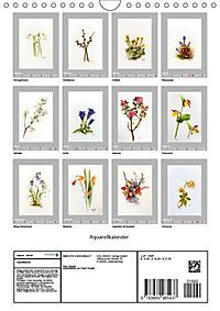 Alpenblumen Aquarelle aus Tirol (Wandkalender 2019 DIN A4 hoch) - Produktdetailbild 13