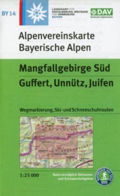 Alpenvereinskarte Mangfallgebirge Süd, Guffert, Unnütz, Juifen