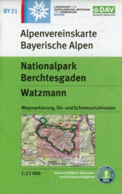 Alpenvereinskarte Nationalpark Berchtesgaden, Watzmann -  pdf epub
