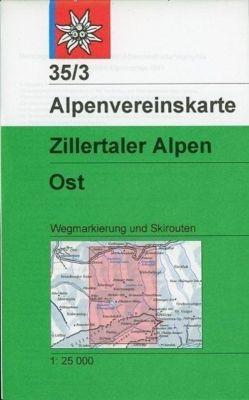 Alpenvereinskarte Zillertaler Alpen Ost