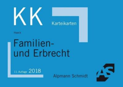 Alpmann-Cards, Karteikarten (KK): Familien- und Erbrecht, Claudia Haack
