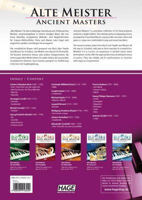 9783866262201 Alte Meister für Sopran-//Altblockflöte und Klavier//Orgel EAN