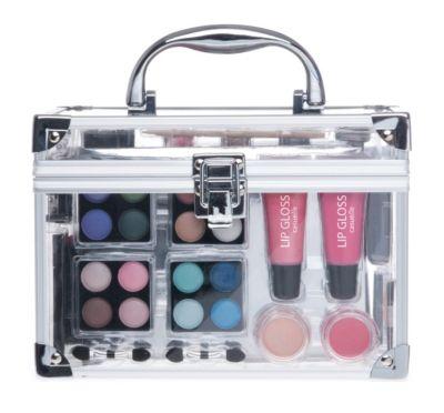 Alu Kosmetikkoffer mit Klarsicht-Seite