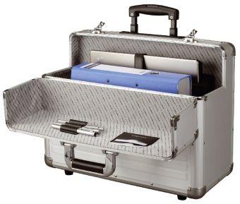 ALUMAXX Pilotenkoffer mit Trolley, Aluminium, silber