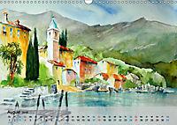 Am Lago Maggiore - Aquarelle und Fotografien (Wandkalender 2019 DIN A3 quer) - Produktdetailbild 8