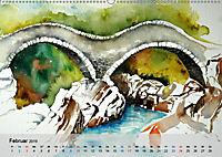 Am Lago Maggiore - Aquarelle und Fotografien (Wandkalender 2019 DIN A2 quer) - Produktdetailbild 2