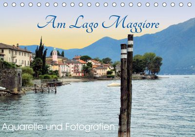 Am Lago Maggiore - Aquarelle und Fotografien (Tischkalender 2019 DIN A5 quer), Brigitte Dürr