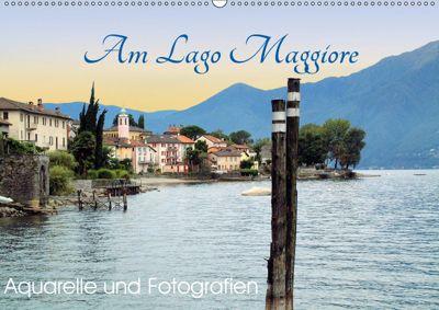 Am Lago Maggiore - Aquarelle und Fotografien (Wandkalender 2019 DIN A2 quer), Brigitte Dürr