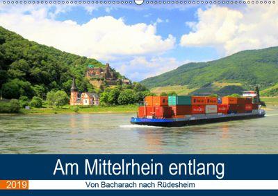 Am Mittelrhein entlang - Von Bacharach nach Rüdesheim (Wandkalender 2019 DIN A2 quer), Arno Klatt