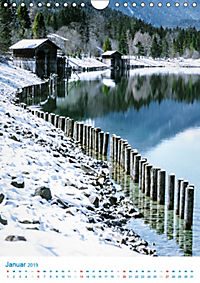 Am Wasser spazieren - Eindrücke von bayerischen Seen im Wandel der Jahreszeiten (Wandkalender 2019 DIN A4 hoch) - Produktdetailbild 1