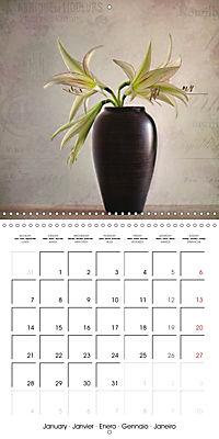 Amaryllis Vintage (Wall Calendar 2019 300 × 300 mm Square) - Produktdetailbild 1