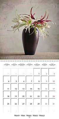 Amaryllis Vintage (Wall Calendar 2019 300 × 300 mm Square) - Produktdetailbild 3