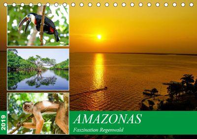 Amazonas - Faszination Regenwald (Tischkalender 2019 DIN A5 quer), Markus Nawrocki