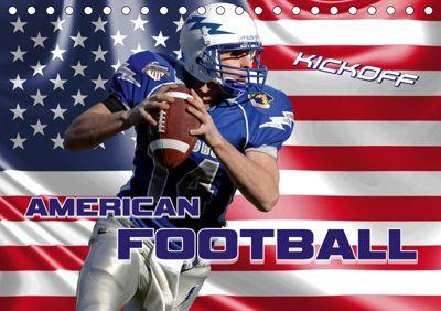 American Football - Kickoff (Tischkalender 2019 DIN A5 quer), Renate Bleicher