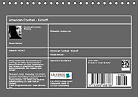 American Football - Kickoff (Tischkalender 2019 DIN A5 quer) - Produktdetailbild 13