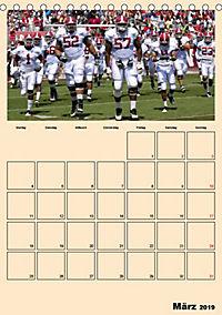 American Football. Rau, spannend, kraftvoll (Tischkalender 2019 DIN A5 hoch) - Produktdetailbild 3