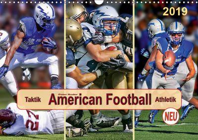 American Football - Taktik und Athletik (Wandkalender 2019 DIN A3 quer), Peter Roder