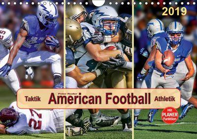 American Football - Taktik und Athletik (Wandkalender 2019 DIN A4 quer), Peter Roder