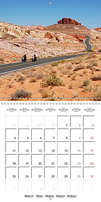 America's Southwest by Motorcycle (Wall Calendar 2019 300 × 300 mm Square) - Produktdetailbild 3