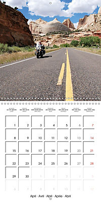 America's Southwest by Motorcycle (Wall Calendar 2019 300 × 300 mm Square) - Produktdetailbild 4