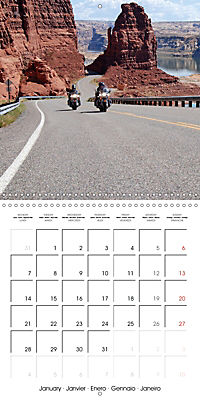 America's Southwest by Motorcycle (Wall Calendar 2019 300 × 300 mm Square) - Produktdetailbild 1