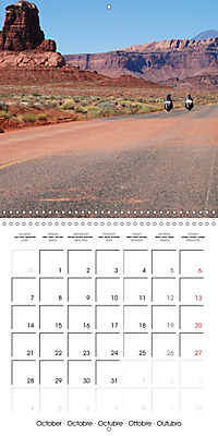 America's Southwest by Motorcycle (Wall Calendar 2019 300 × 300 mm Square) - Produktdetailbild 10