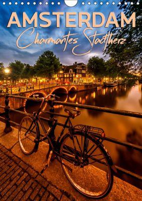 AMSTERDAM Charmantes Stadtherz (Wandkalender 2019 DIN A4 hoch), Melanie Viola