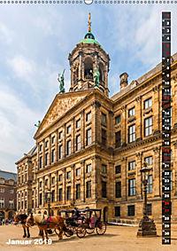 AMSTERDAM Charmantes Stadtherz (Wandkalender 2019 DIN A2 hoch) - Produktdetailbild 1