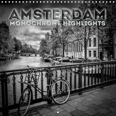 AMSTERDAM Monochrome Highlights (Wall Calendar 2019 300 × 300 mm Square), Melanie Viola