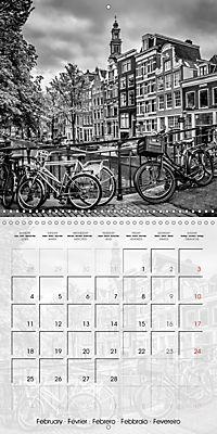 AMSTERDAM Monochrome Highlights (Wall Calendar 2019 300 × 300 mm Square) - Produktdetailbild 2