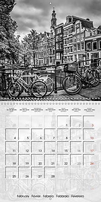 AMSTERDAM Monochrome Highlights (Wall Calendar 2019 300 × 300 mm Square) - Produktdetailbild 2