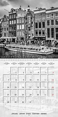 AMSTERDAM Monochrome Highlights (Wall Calendar 2019 300 × 300 mm Square) - Produktdetailbild 1