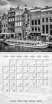 AMSTERDAM Monochrome Highlights (Wall Calendar 2019 300 × 300 mm Square) - Produktdetailbild 1