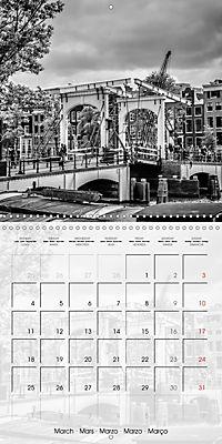 AMSTERDAM Monochrome Highlights (Wall Calendar 2019 300 × 300 mm Square) - Produktdetailbild 3