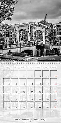 AMSTERDAM Monochrome Highlights (Wall Calendar 2019 300 × 300 mm Square) - Produktdetailbild 3