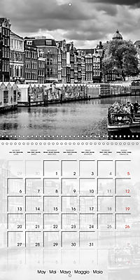 AMSTERDAM Monochrome Highlights (Wall Calendar 2019 300 × 300 mm Square) - Produktdetailbild 5