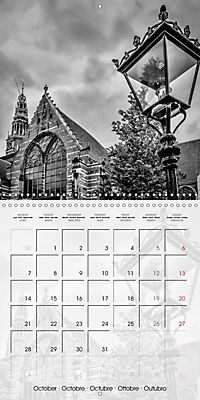 AMSTERDAM Monochrome Highlights (Wall Calendar 2019 300 × 300 mm Square) - Produktdetailbild 10