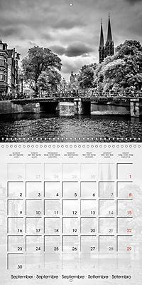 AMSTERDAM Monochrome Highlights (Wall Calendar 2019 300 × 300 mm Square) - Produktdetailbild 9
