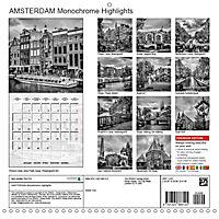 AMSTERDAM Monochrome Highlights (Wall Calendar 2019 300 × 300 mm Square) - Produktdetailbild 13