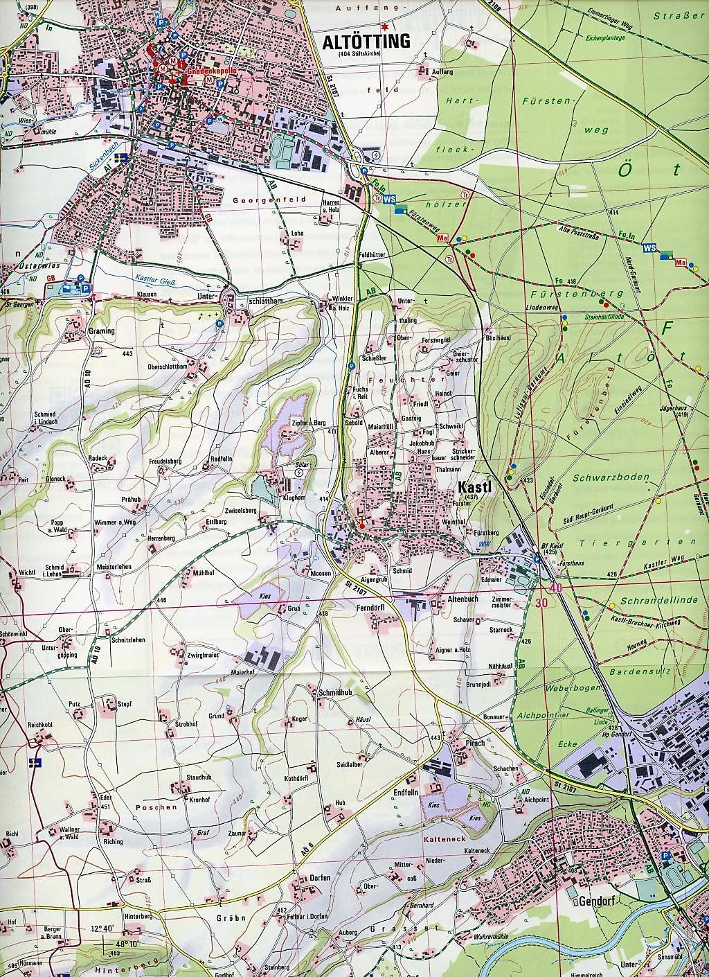 Ostseeradweg Karte.Amtliche Topographische Karte Bayern Altötting Buch Weltbild De