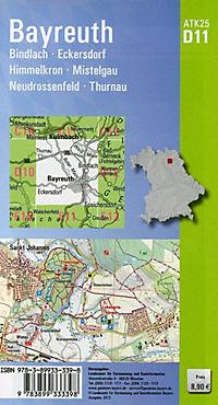 Amtliche Topographische Karte Bayern Bayreuth - Produktdetailbild 1